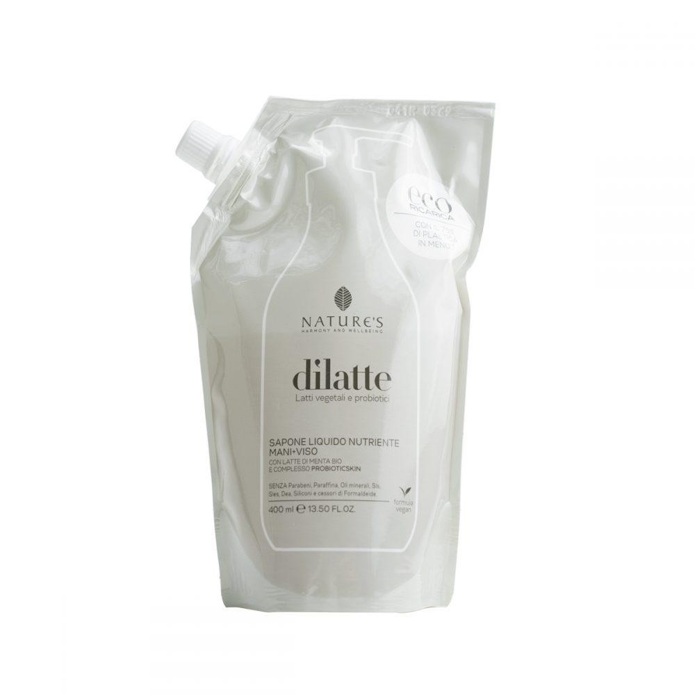 Natures-dilatte-ricarica-sapone-liquido-nutriente-mani-viso-400ml