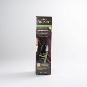 biokap spray ritocco capelli castano mogano