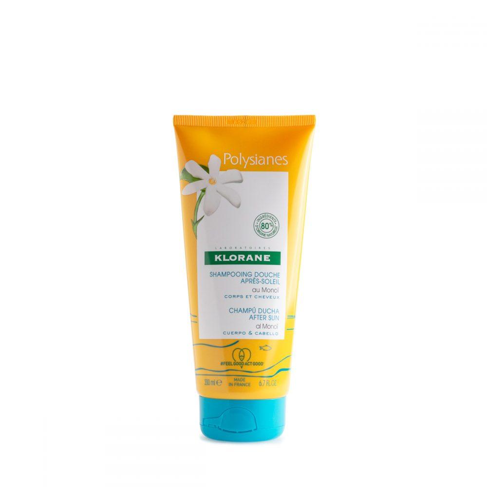 polysianes klorane shampo doccia doposole